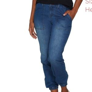 Peace Love World Jogger ankle zipped Jeans